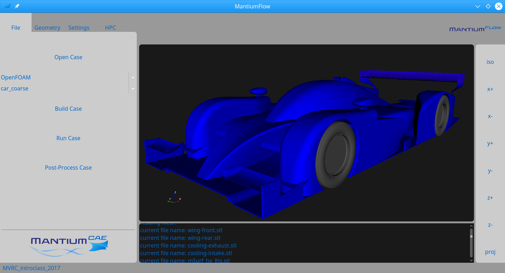 MantiumFlow CFD Software screenshot