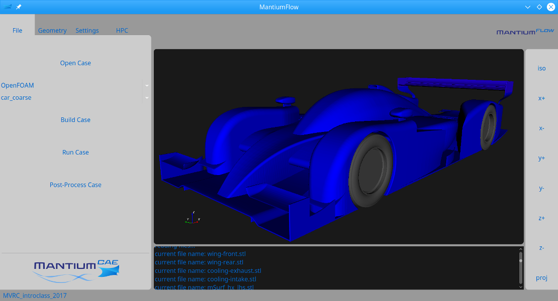 MantiumFlow CFD Software screenshot