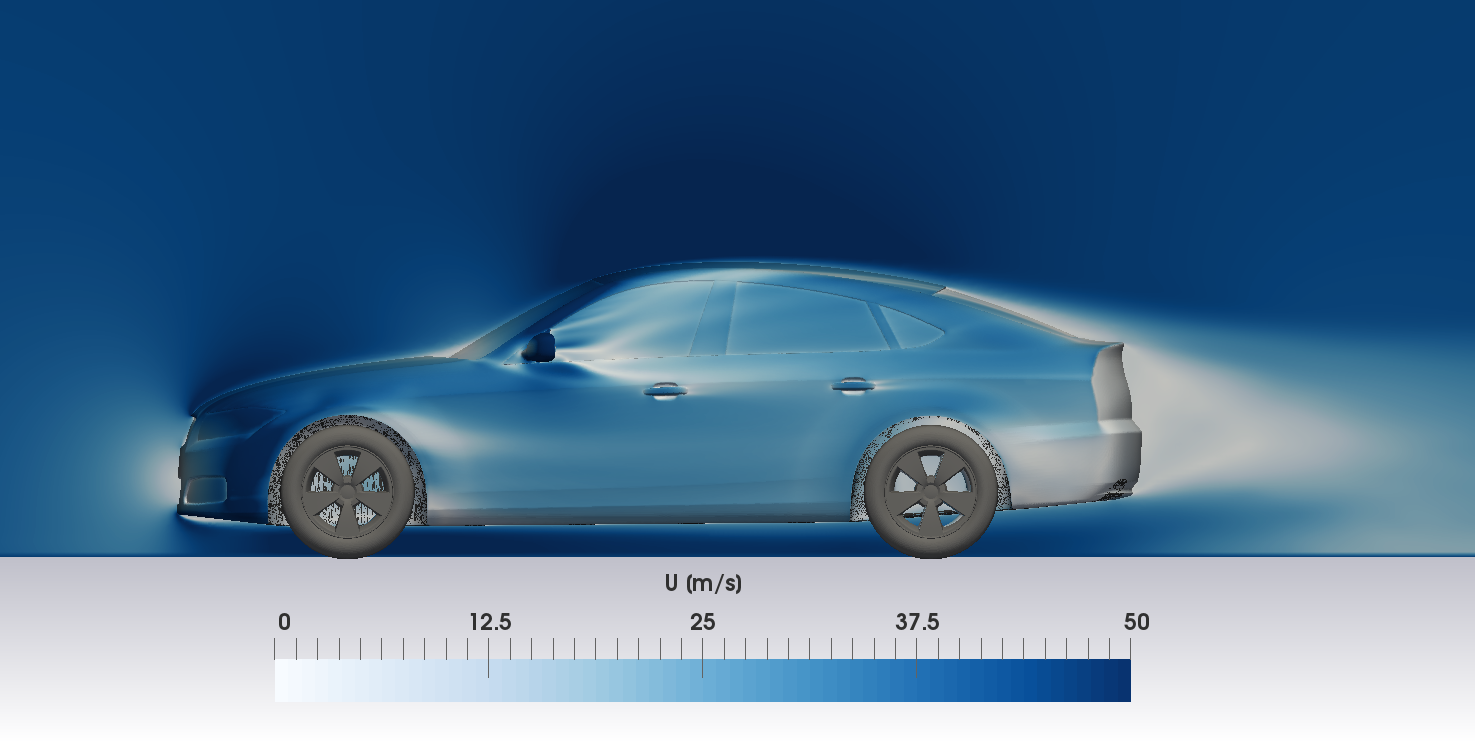 DriveAER OpenFOAM CFD simulation