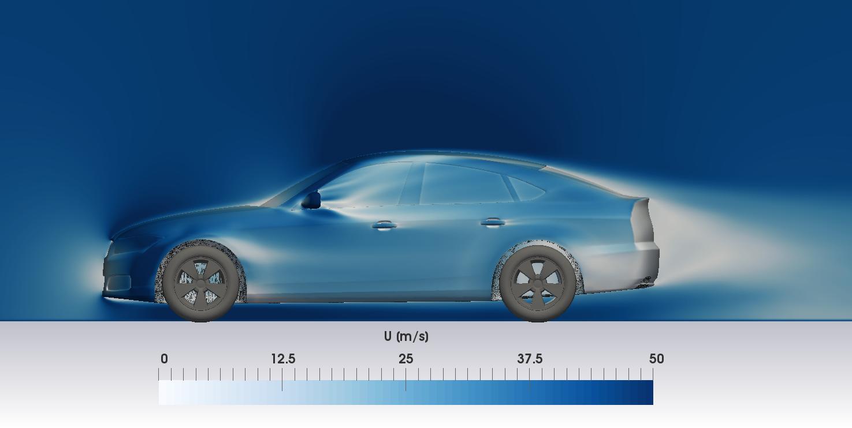 DriveAER OpenFOAM CFD simulation