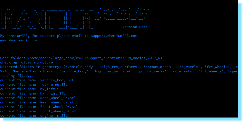 MantiumFlow CFD Simulation Software CLI