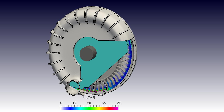 Pump OpenFOAM CFD simulation