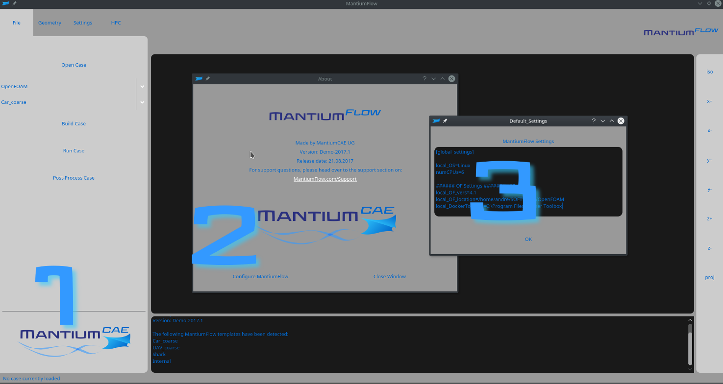 MantiumFlow CFD Simulation Software Setup