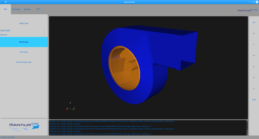 Build case for cfd simulation of fan