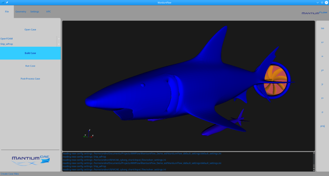 Build cfd case for shark tutorial