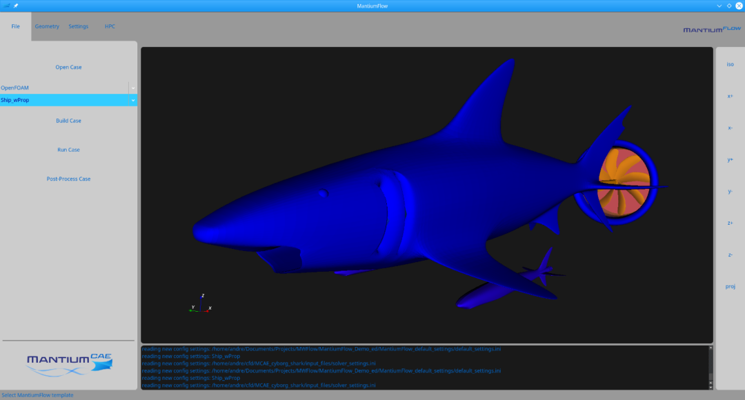 Select template for shark cfd tutorial.