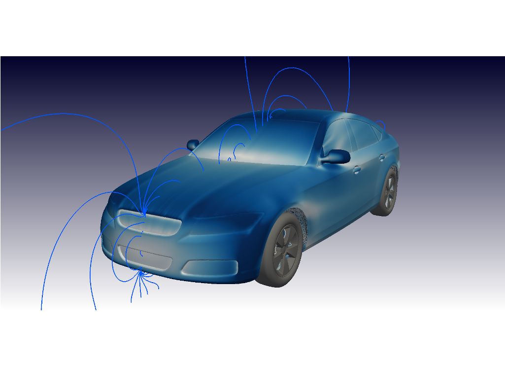 CFD Simulation Car DrivAER Surface Pressure